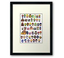 Super Smash Bros Wii U - Pixel Art Characters Framed Print