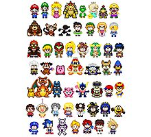 Super Smash Bros Wii U - Pixel Art Characters Photographic Print