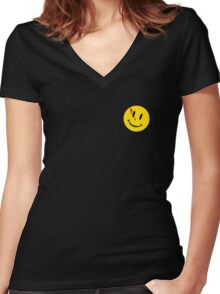 The Comedian's Badge Women's Fitted V-Neck T-Shirt