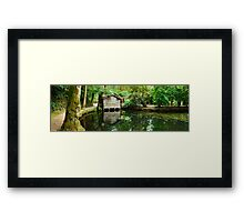 Boathouse, Alfred Nicholas Gardens, Melbourne, Victoria, Australia Framed Print
