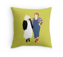 Plus Size Halloween - Chucky and Tiffany Throw Pillow