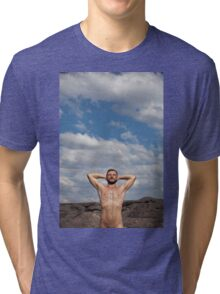 in the wild, sexy nude guy 4 Tri-blend T-Shirt
