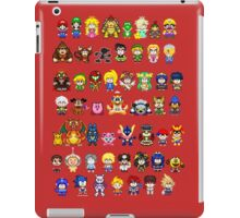 Super Smash Bros Wii U - Pixel Art Characters iPad Case/Skin