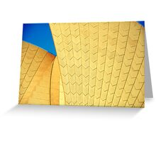 Sydney Opera in Yellow & Blue Greeting Card