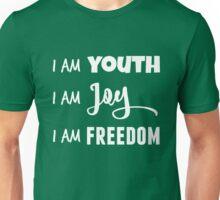 I AM in white Unisex T-Shirt