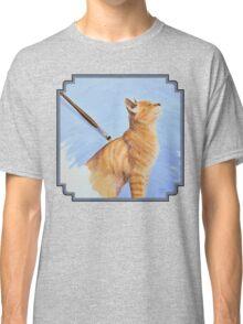 Brushing the Cat - Oil Painting Classic T-Shirt