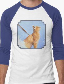 Brushing the Cat - Oil Painting Men's Baseball ¾ T-Shirt