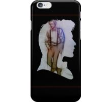 The Eleventh Doctor Silhouette with pencil sketch iPhone Case/Skin