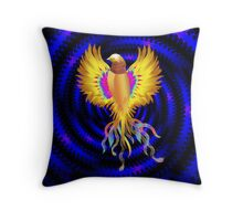 The Golden Bird Throw Pillow
