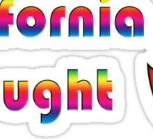 """California drought"" typography Sticker"