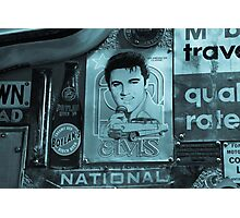 Elvis on the wall. Photographic Print