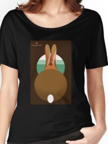 rabbit in a burrow  Women's Relaxed Fit T-Shirt
