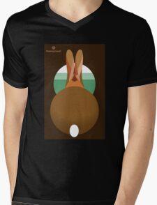 rabbit in a burrow  Mens V-Neck T-Shirt