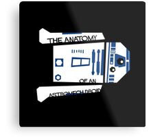 Anatomy of an Astromech Droid Metal Print