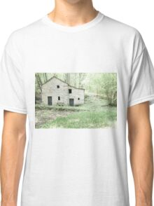 Deserted stone cottage in forest Classic T-Shirt