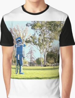 Blue-Bot Graphic T-Shirt