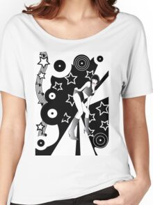 Retro Glam Discotheque Women's Relaxed Fit T-Shirt