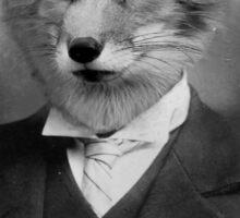 A Fantastic Fox Gentleman. Sticker