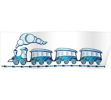Little Blue Toy Train Poster