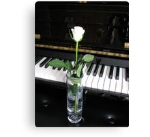 The Musical Rose Canvas Print