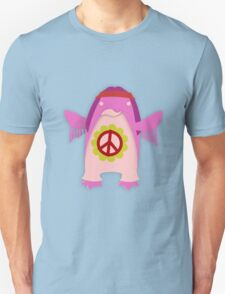 Pink Psychedelic Hippie Penguin T-Shirt