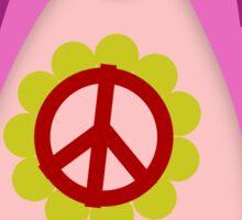 Pink Psychedelic Hippie Penguin Sticker