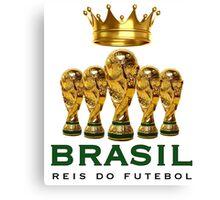 Brasil reis do futebol Canvas Print