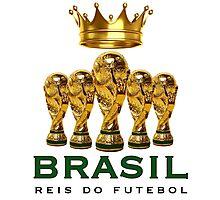 Brasil reis do futebol Photographic Print