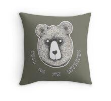 Artistic Bear Tee Throw Pillow