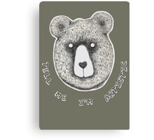 Artistic Bear Tee Canvas Print