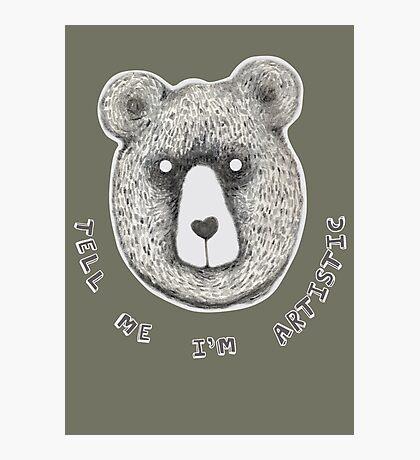Artistic Bear Tee Photographic Print