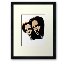 Mulder and Skully Framed Print
