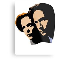 Mulder and Skully Metal Print