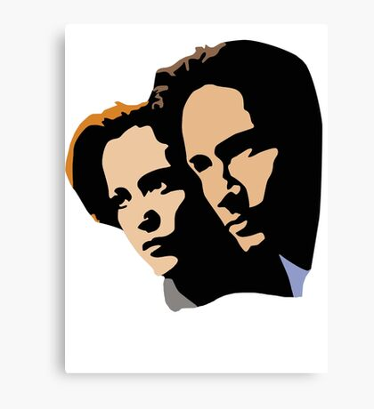Mulder and Skully Canvas Print