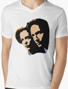 Mulder and Skully Mens V-Neck T-Shirt