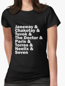 Star Trek Voyager Crew Womens Fitted T-Shirt