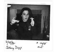 Young Johnny Depp Photographic Print
