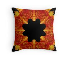 Begonia Ring of Fire Throw Pillow