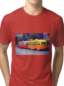 San Francisco Trolley Cars Tri-blend T-Shirt