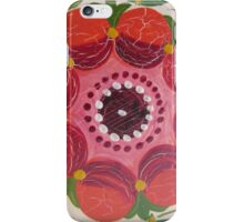 Hot Pink Red Wild Rose Flower Folk Art Summer of Love Antique Rosemal Delight Kirsten iPhone Case/Skin
