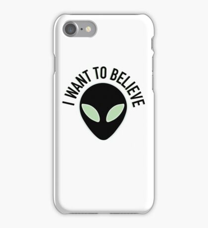 The X Files - I Want to Believe iPhone Case/Skin