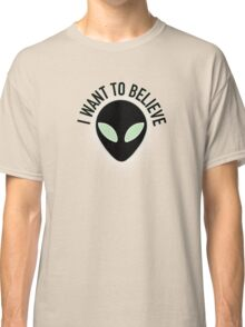 The X Files - I Want to Believe Classic T-Shirt