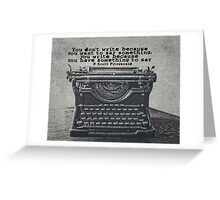 Writing According to Fitzgerald Greeting Card