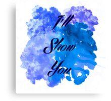 I'll Show You - Justin Bieber inspired Black Canvas Print
