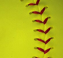Neon Yellow Softball Stitches by BamaBruce69