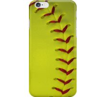 Neon Yellow Softball Stitches iPhone Case/Skin