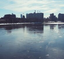 The East River in the Snow Sticker