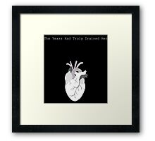 The Years Had Truly Drained Her Framed Print