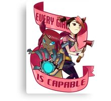Every Girl is Capable Canvas Print