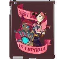 Every Girl is Capable iPad Case/Skin